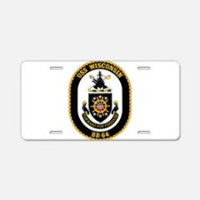 USS Wisconsin Aluminum License Plate