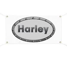 Harley Metal Oval Banner