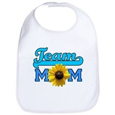 Team Mom sunflower Bib
