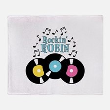 Rockin Robin Throw Blanket