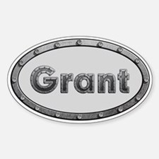 Grant Metal Oval Decal