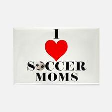 I Love Soccer Moms Rectangle Magnet