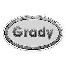 Grady Metal Oval Decal