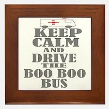 Boo Boo Bus Framed Tile