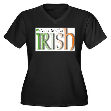 send in Women's Plus Size V-Neck Dark T-Shirt