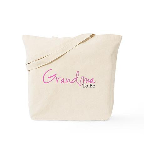 Grandma To Be (Pink Script) Tote Bag