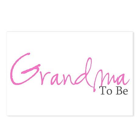 Grandma To Be (Pink Script) Postcards (Package of