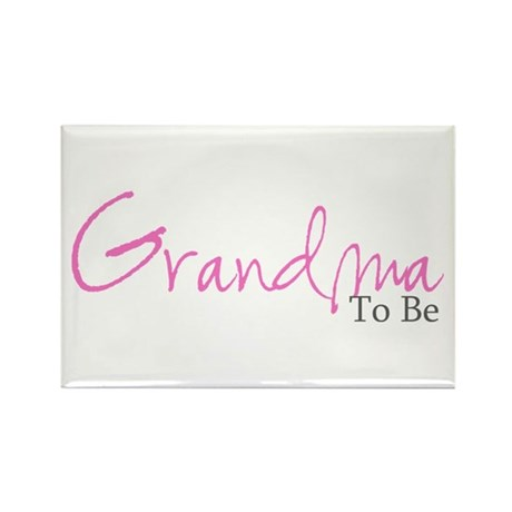 Grandma To Be (Pink Script) Rectangle Magnet