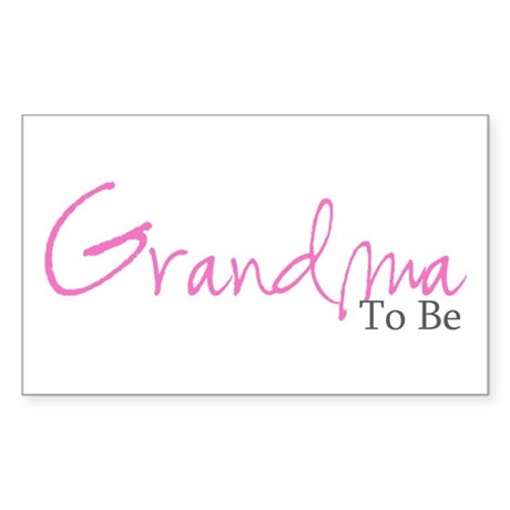 Grandma To Be (Pink Script) Rectangle Sticker