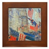 Art vintage harpers may Framed Tiles