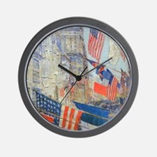 Allies Day, May, 1917 by Hassam Wall Clock