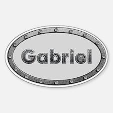 Gabriel Metal Oval Decal