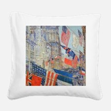 Allies Day, May, 1917 by Hass Square Canvas Pillow
