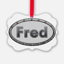 Fred Metal Oval Ornament