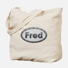 Fred Metal Oval Tote Bag