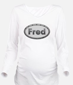 Fred Metal Oval Long Sleeve Maternity T-Shirt