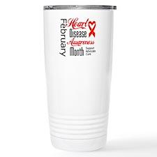 Go Red Heart Disease Mo Travel Mug