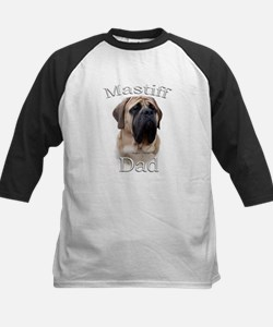 Mastiff(fawn)Dad2 Kids Baseball Jersey