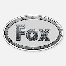 Fox Metal Oval Decal