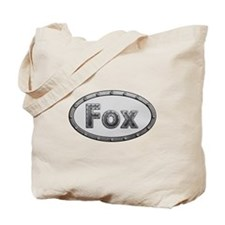 Fox Metal Oval Tote Bag