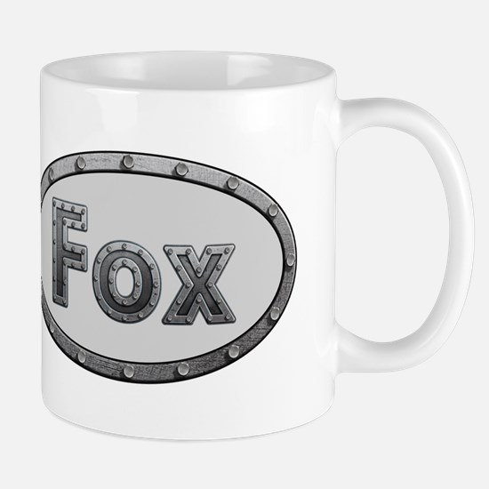 Fox Metal Oval Mugs