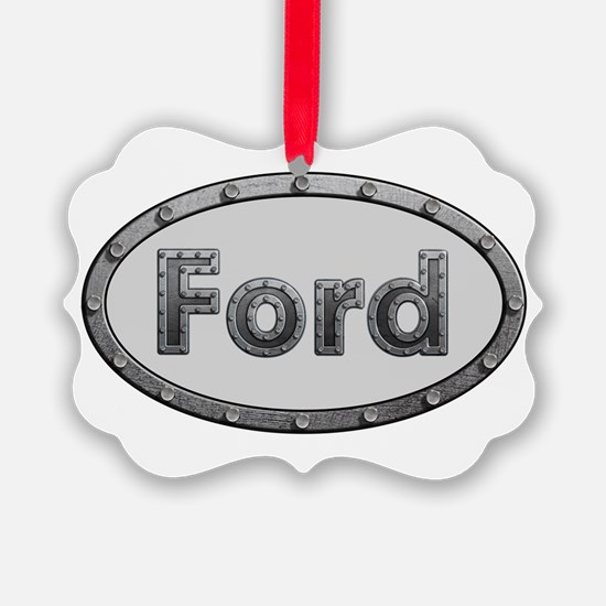 Ford Metal Oval Ornament