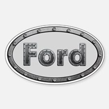 Ford Metal Oval Decal