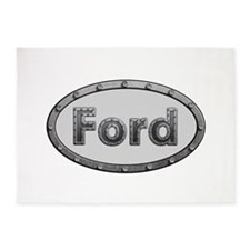 Ford Metal Oval 5'x7'Area Rug