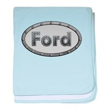 Ford Metal Oval baby blanket