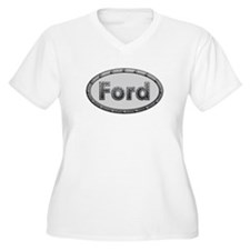 Ford Metal Oval Plus Size T-Shirt