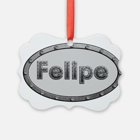 Felipe Metal Oval Ornament