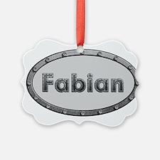 Fabian Metal Oval Ornament