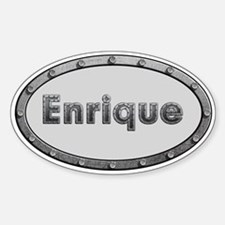 Enrique Metal Oval Bumper Stickers