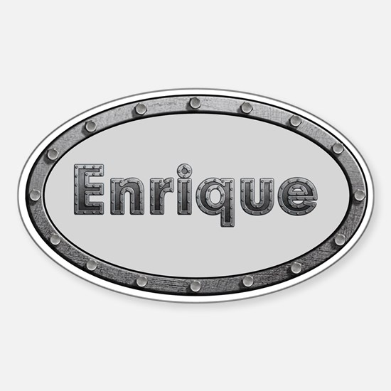 Enrique Metal Oval Decal