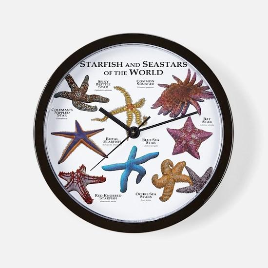 Starfish & Seastars of the World Wall Clock