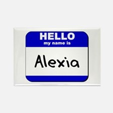 hello my name is alexia Rectangle Magnet
