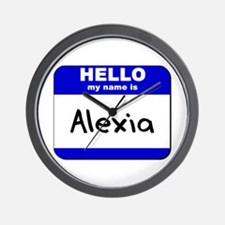 hello my name is alexia  Wall Clock