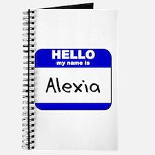 hello my name is alexia Journal