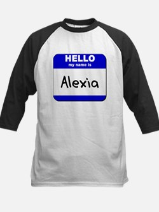 hello my name is alexia Kids Baseball Jersey