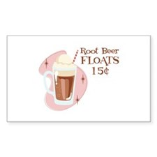 Root Beer Floats 15 Cents Decal
