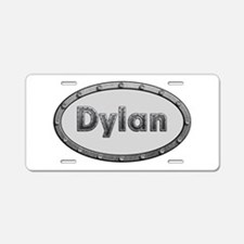 Dylan Metal Oval Aluminum License Plate