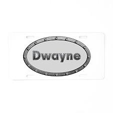 Dwayne Metal Oval Aluminum License Plate