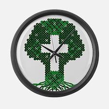 Celtic Knot Tree Large Wall Clock