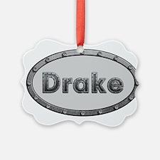 Drake Metal Oval Ornament