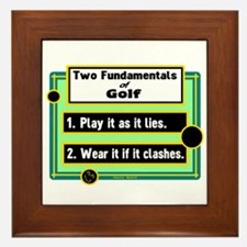 Two Fundamentals Of Golf/Henry Beard Framed Tile