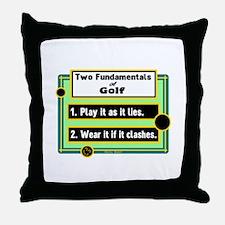 Two Fundamentals Of Golf/Henry Beard Throw Pillow