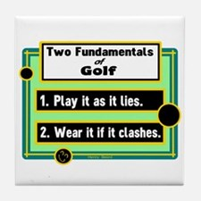 Two Fundamentals Of Golf/Henry Beard Tile Coaster