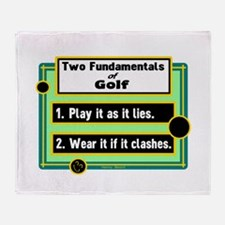 Two Fundamentals Of Golf/Henry Beard Throw Blanket