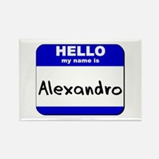 hello my name is alexandro Rectangle Magnet