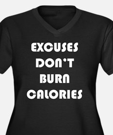 Excuses Don' Women's Plus Size V-Neck Dark T-Shirt